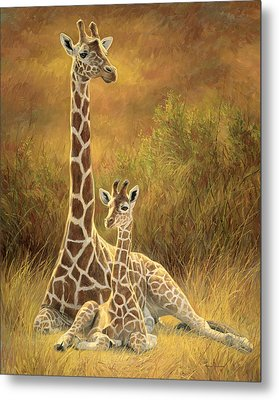 Mother And Son Metal Print by Lucie Bilodeau