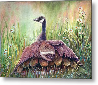 Mother Goose Metal Print by Patricia Schneider Mitchell
