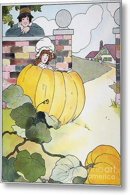 Mother Goose: Pumpkin Metal Print by Granger