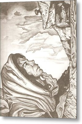 Mother Mary Drawing Metal Print by Robert Crandall