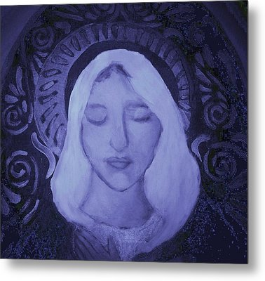 Mother Mary I Metal Print by Shirley Moravec