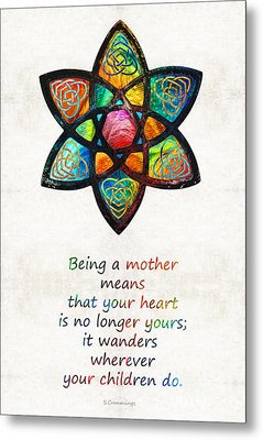 Mother Mom Art - Wandering Heart - By Sharon Cummings Metal Print by Sharon Cummings