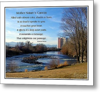 Metal Print featuring the photograph Mother Natures Canvas by Bobbee Rickard
