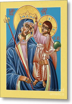Metal Print featuring the painting Mother Of God Asking For Humility 143 by William Hart McNichols