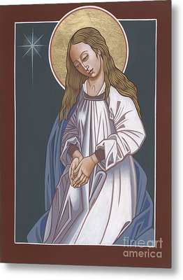 Metal Print featuring the painting Mother Of God Waiting In Adoration 248 by William Hart McNichols