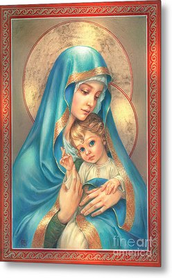 Mother Of God Metal Print by Zorina Baldescu