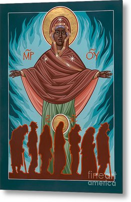 Mother Of Sacred Activism With Eichenberg's Christ Of The Breadline Metal Print