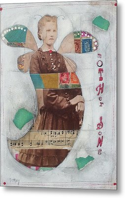 Metal Print featuring the painting Mother Song by Casey Rasmussen White