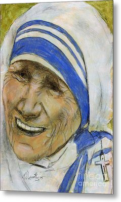 Mother Teresa Metal Print by P J Lewis