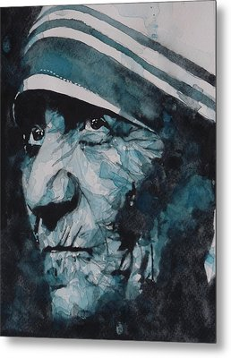 Mother Teresa Metal Print by Paul Lovering