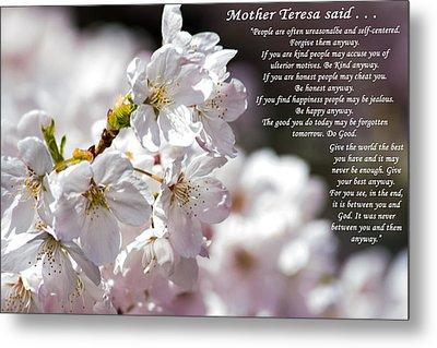 Mother Teresa Said Metal Print by Tikvah's Hope