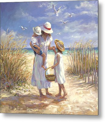 Mothers Day Beach Metal Print by Laurie Hein