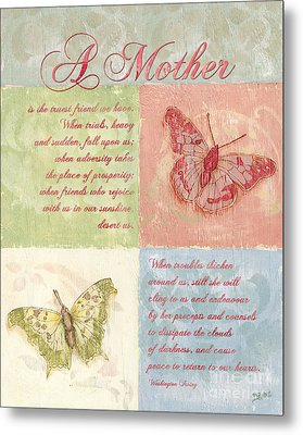 Mother's Day Butterfly Card Metal Print
