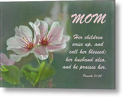 Mothers Day Card For Mom Metal Print by Sandi OReilly
