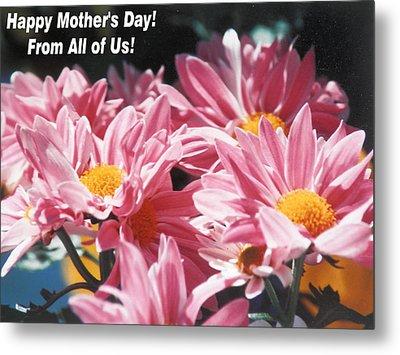 Mother's Day Love In Pink Metal Print by Belinda Lee