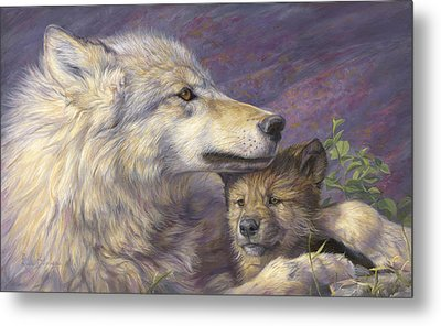 Mother's Love Metal Print by Lucie Bilodeau