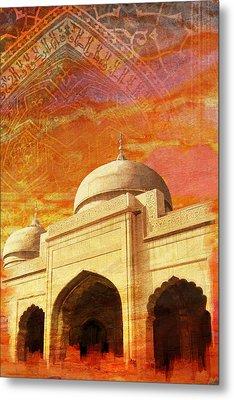 Moti Masjid Metal Print