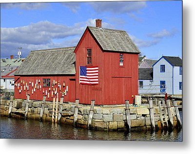 Metal Print featuring the photograph Motif In Rockport by Caroline Stella