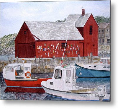 Metal Print featuring the painting Motif No 1 by Carol Flagg