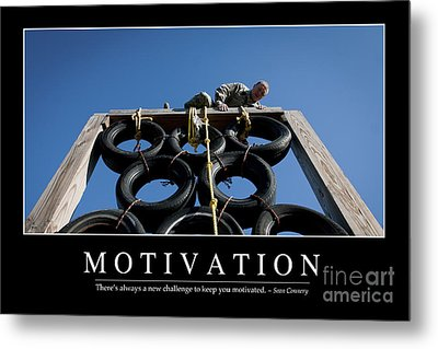 Motivation Inspirational Quote Metal Print by Stocktrek Images