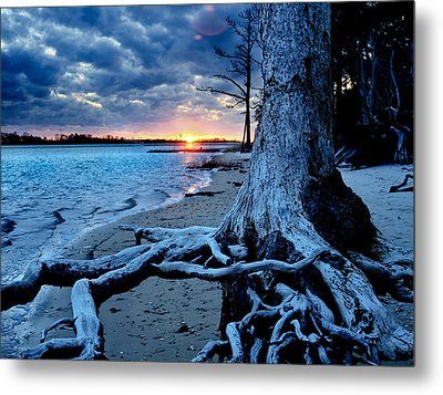 Metal Print featuring the photograph Motivational Landscape-faith Hope Overcome-tree Sunset by Eszra Tanner