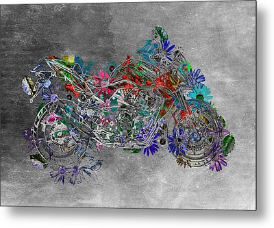 Moto Art  Floral Sp01bb Metal Print by Variance Collections