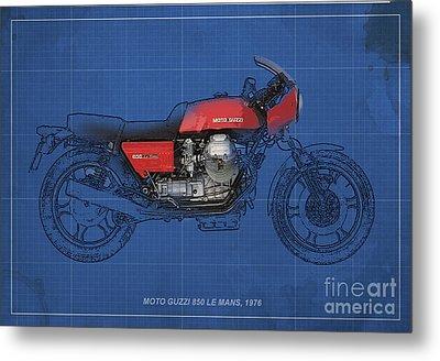 Moto Guzzi 850 Le Mans 1976 Metal Print by Pablo Franchi