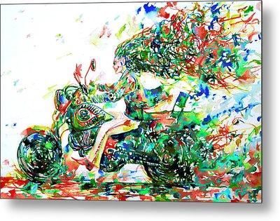 Motor Demon Running Fast Metal Print by Fabrizio Cassetta