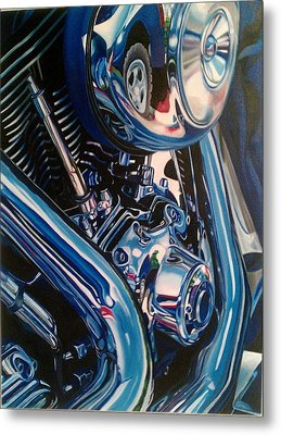 Motorcycle Abstract Metal Print by Molly Gossett