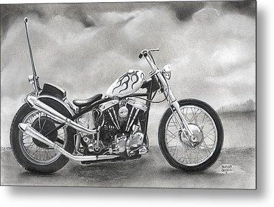 Motorcycle Metal Print by Heather Gessell