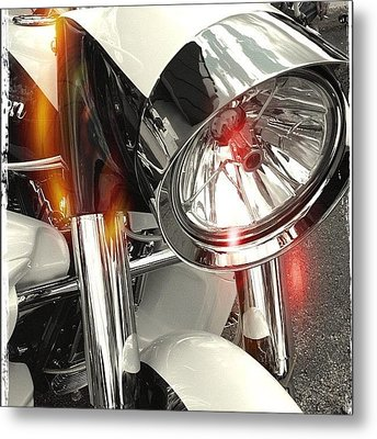#motorcycle #motorcycles Metal Print by Mike Maher