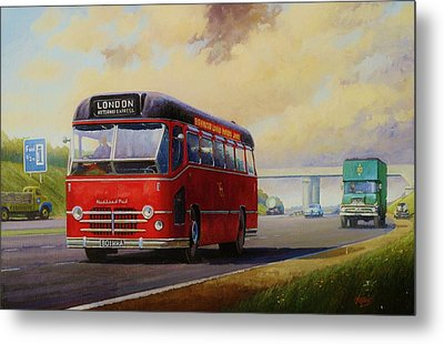 Motorway Express 1959. Metal Print by Mike  Jeffries