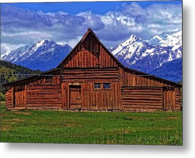 Moulton Barn In Spring Metal Print by Dan Sproul