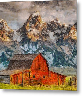 Moulton Barn Metal Print by Kai Saarto