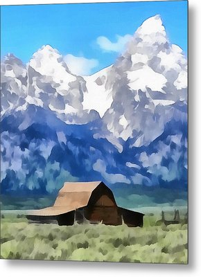 Moulton Barn Painting Metal Print by Dan Sproul