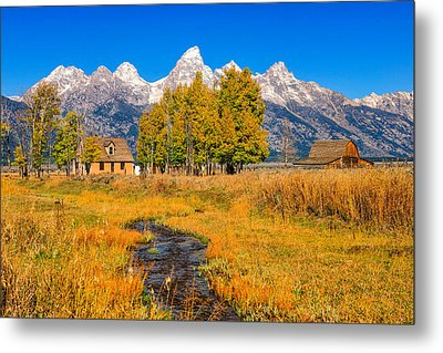Moulton Homestead Metal Print by Greg Norrell