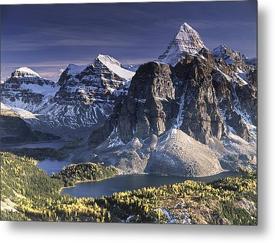 Mount Assiniboine In The Fall Metal Print