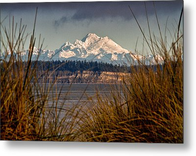 Mount Baker From Port Townsend Metal Print