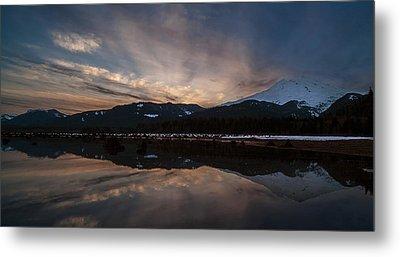 Mount Baker Sunset Metal Print by Mike Reid