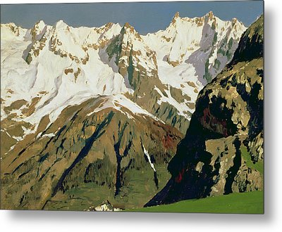 Mount Blanc Mountains Metal Print by Isaak Ilyich Levitan