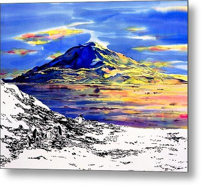 Mount Erebus Antarctica Metal Print by Carolyn Doe