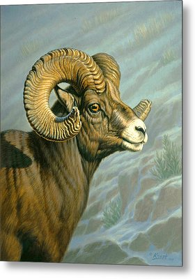 Mount Everts Ram Metal Print by Paul Krapf