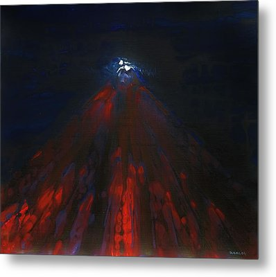 Mount Fuji By Night 2003 Metal Print