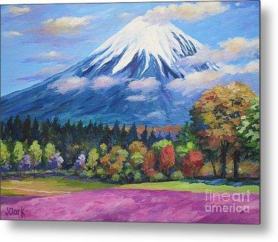 Mount Fuji Shibazakura Metal Print
