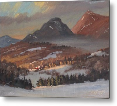 Metal Print featuring the painting Mount Greylock From Clarksburg by Len Stomski