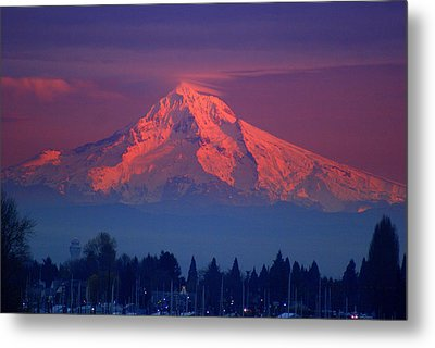 Mount Hood At Sunset Metal Print by DerekTXFactor Creative
