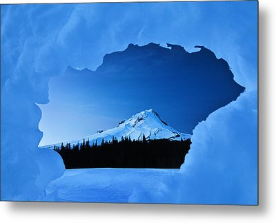 Mount Hood Blues Metal Print