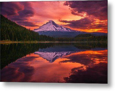 Mount Hood Sunrise Metal Print by Darren  White