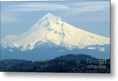 Mount Hood  Metal Print by Susan Garren