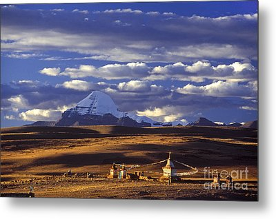 Mount Kailash And Chiu Gompa - Tibet Metal Print by Craig Lovell